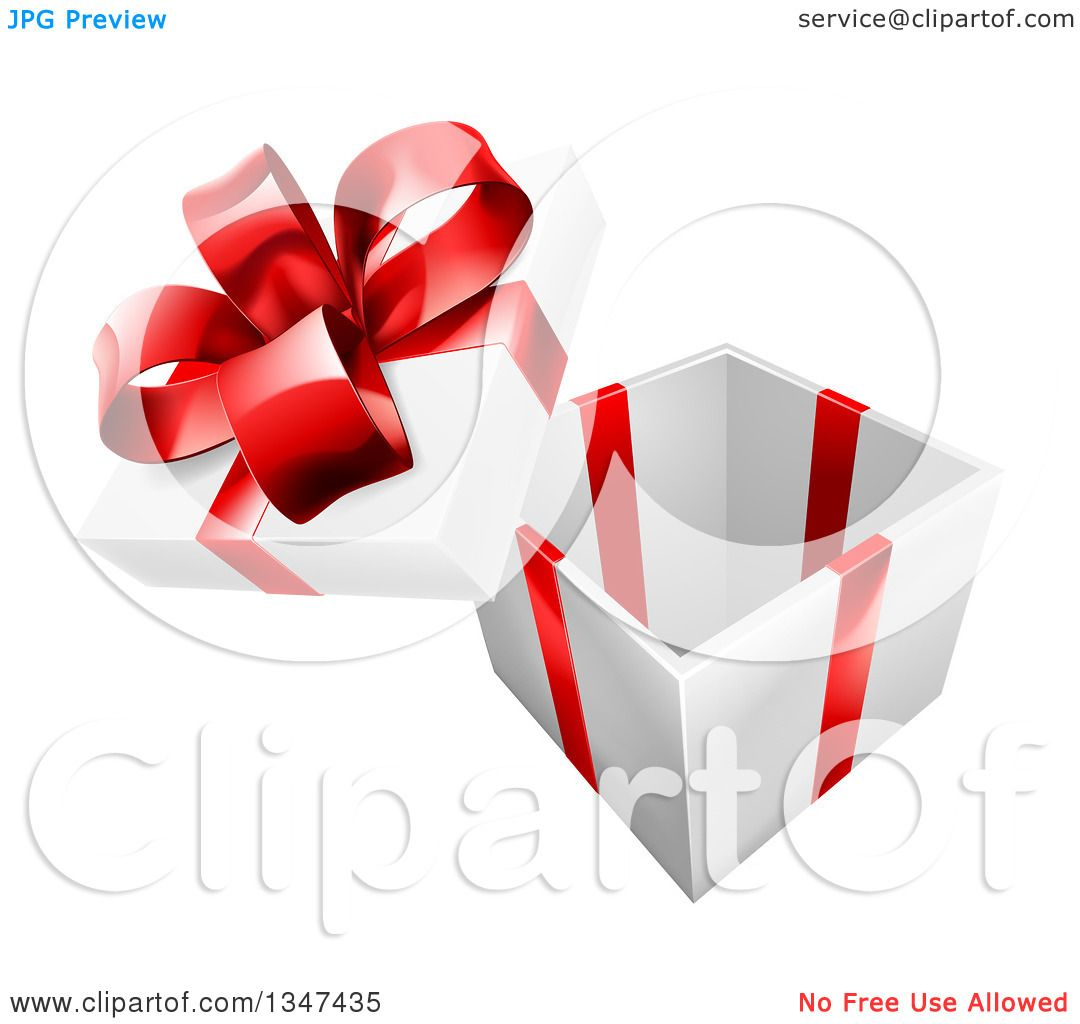 Clipart of a 3d Open Gift Box with a Red Bow - Royalty Free Vector Illustration by AtStockIllustration  sc 1 st  Clipart Of & Clipart of a 3d Open Gift Box with a Red Bow - Royalty Free Vector ... Aboutintivar.Com