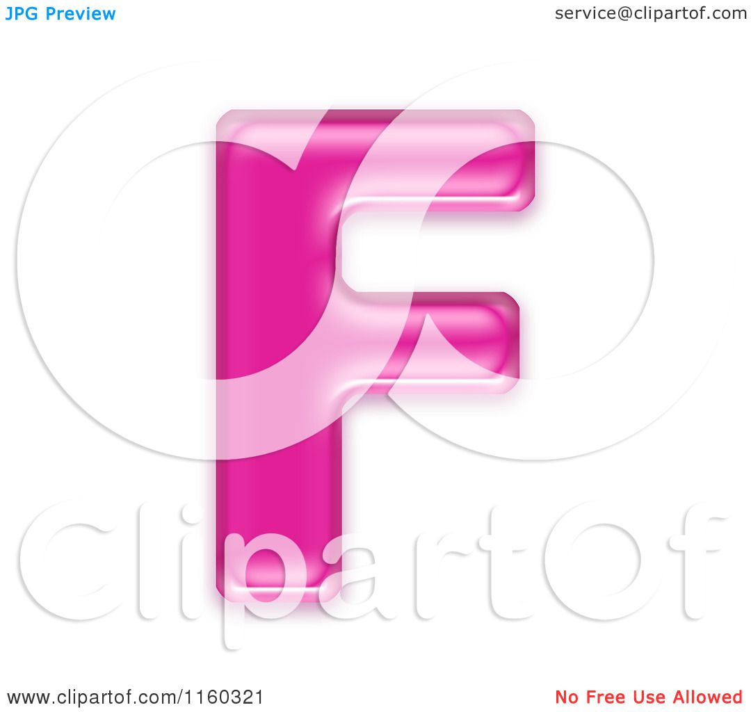 Clipart of a 3d Pink Jelly Capital Alphabet Letter F - Royalty Free ...