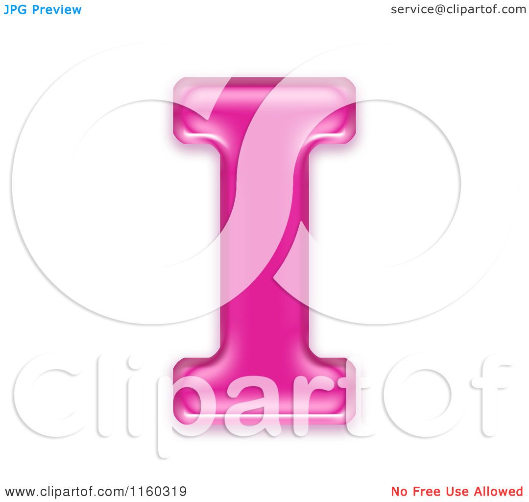 Capital Alphabet Letter I Royalty Free CGI Illustration By Chrisroll