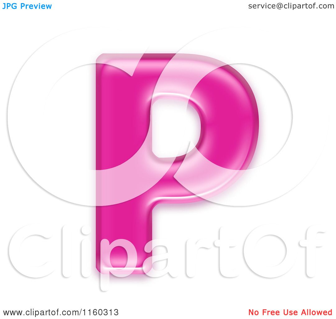Clipart of a 3d Pink Jelly Capital Alphabet Letter P - Royalty Free ...