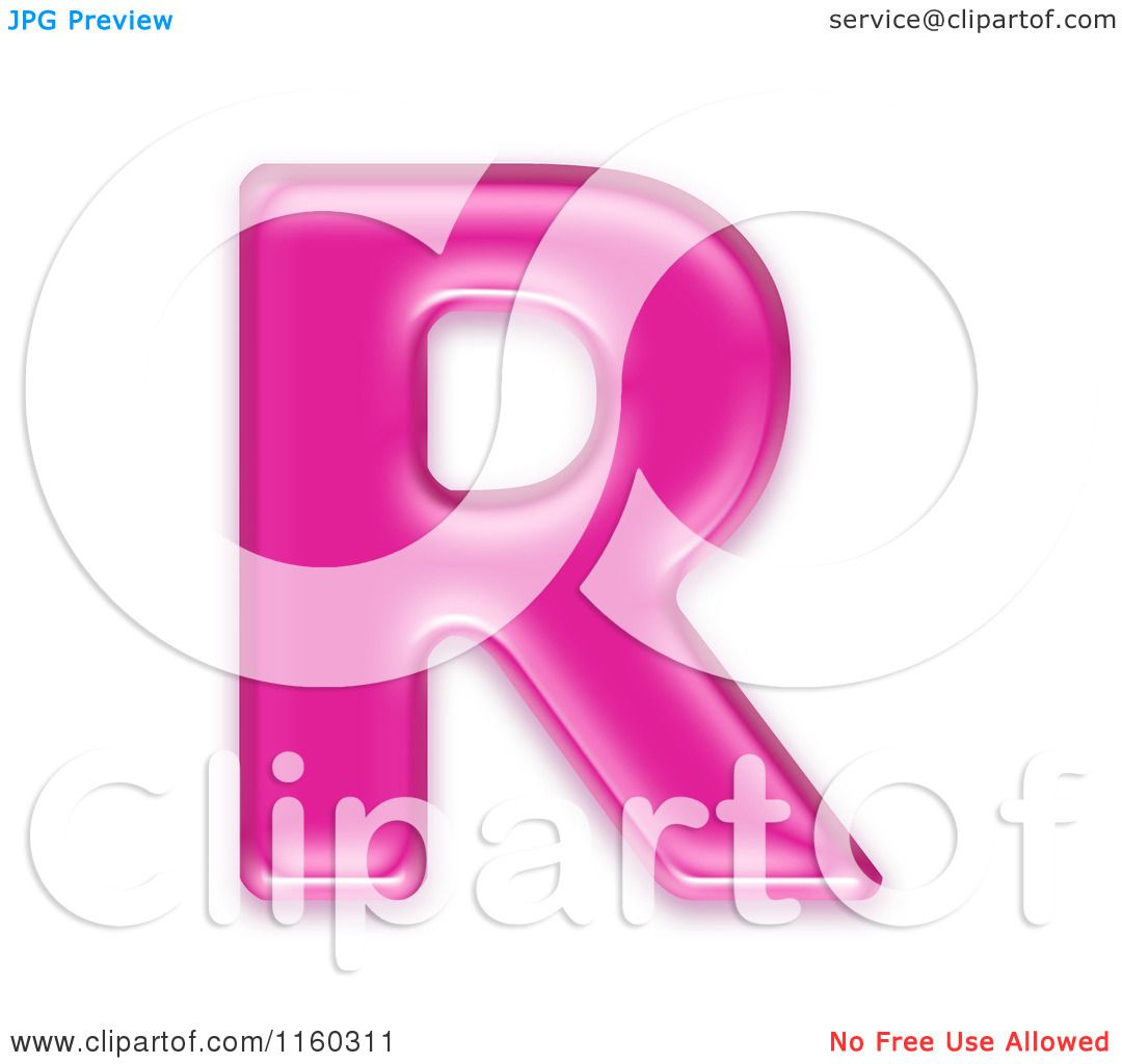 Clipart of a 3d Pink Jelly Capital Alphabet Letter R - Royalty Free ...