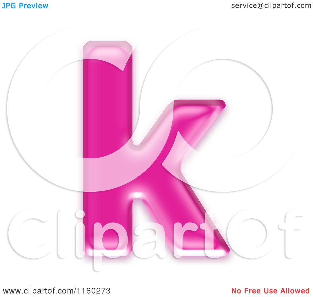 K Letter Images In Pink Letter K - Royalty Free