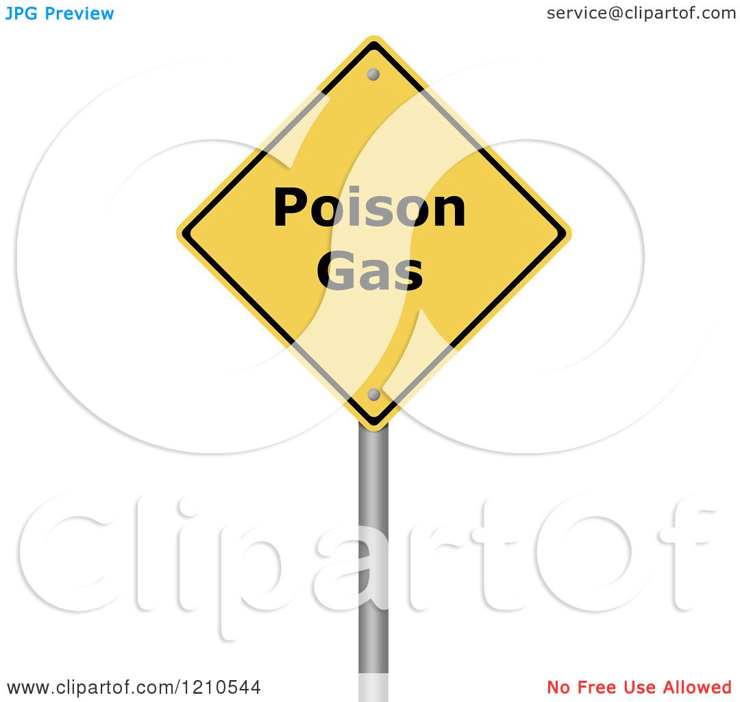 Clipart of a 3d Poison Gas Warning Sign - Royalty Free CGI ...