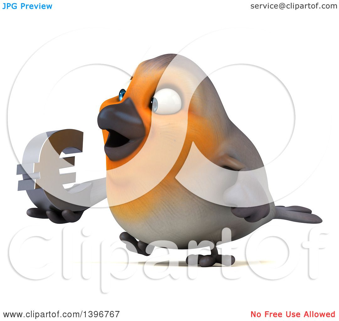 Clipart of a 3d red robin bird holding a euro symbol on a white clipart of a 3d red robin bird holding a euro symbol on a white background royalty free illustration by julos buycottarizona Gallery