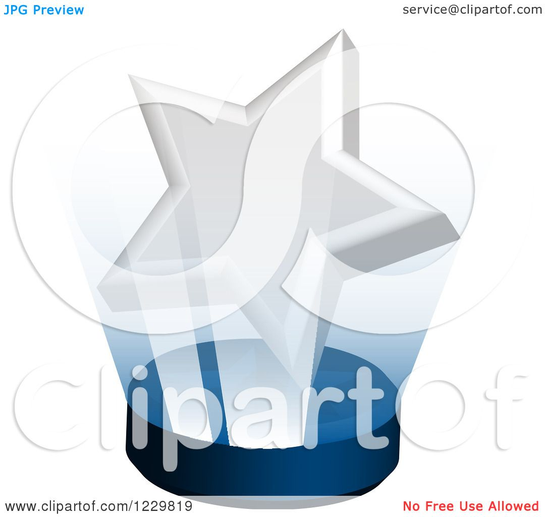 Clipart of a 3d Shining White Star Award on a Stand ...