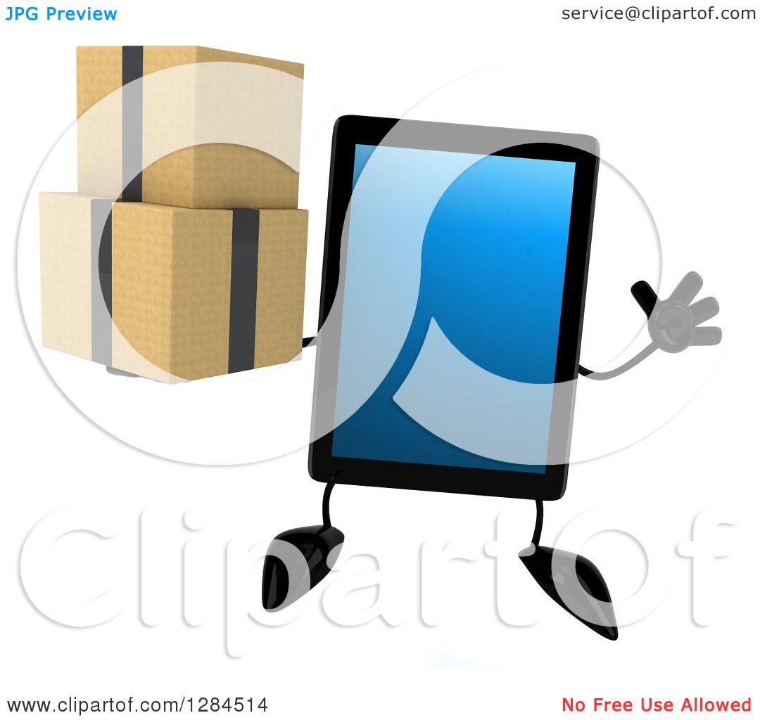 Character Computer Tablet Clip Art