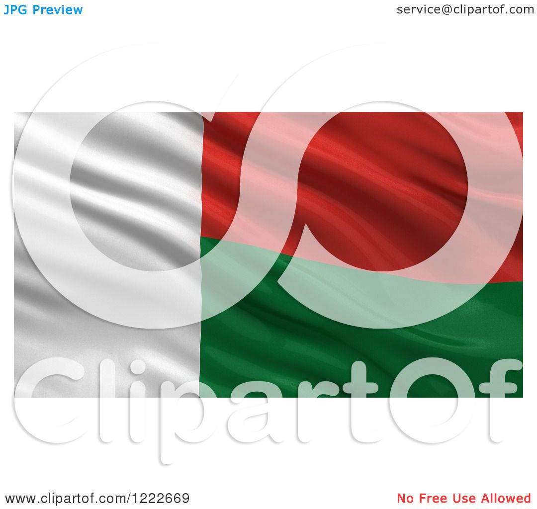 Clipart of a 3d Waving Flag of Madagascar with Rippled Fabric ...