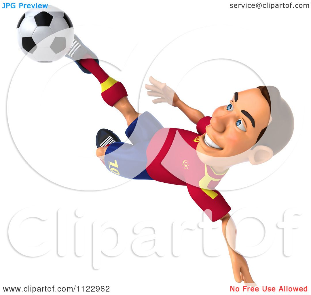 Playing Soccer Clipart Spanish soccer player 7