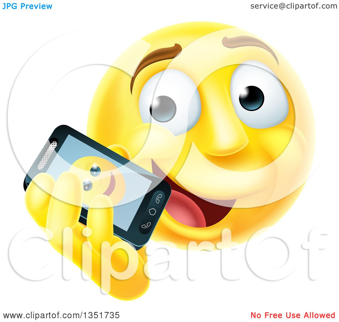 clipart of a 3d yellow male smiley emoji emoticon face talking on a rh clipartof com Christmas Smiley Face Clip Art Small Smiley Face Clip Art