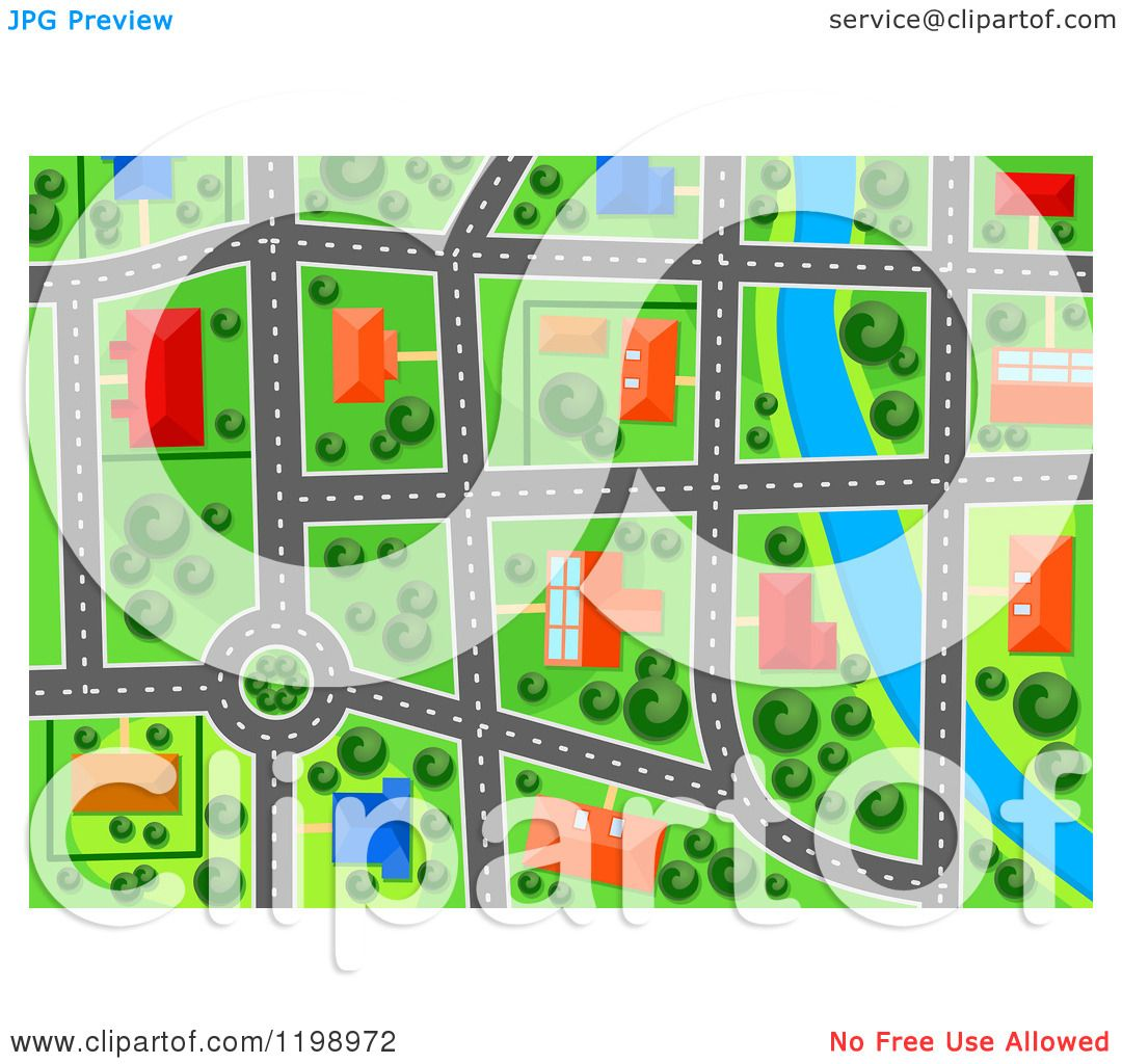 Maps Aerial Free Clipart of a Aerial Map View