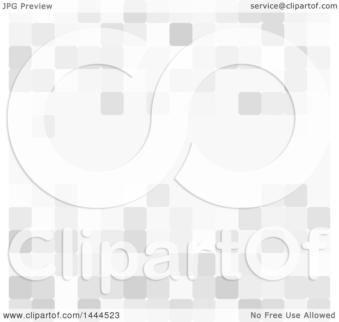 Clipart Of A Background Of Grayscale Pixels
