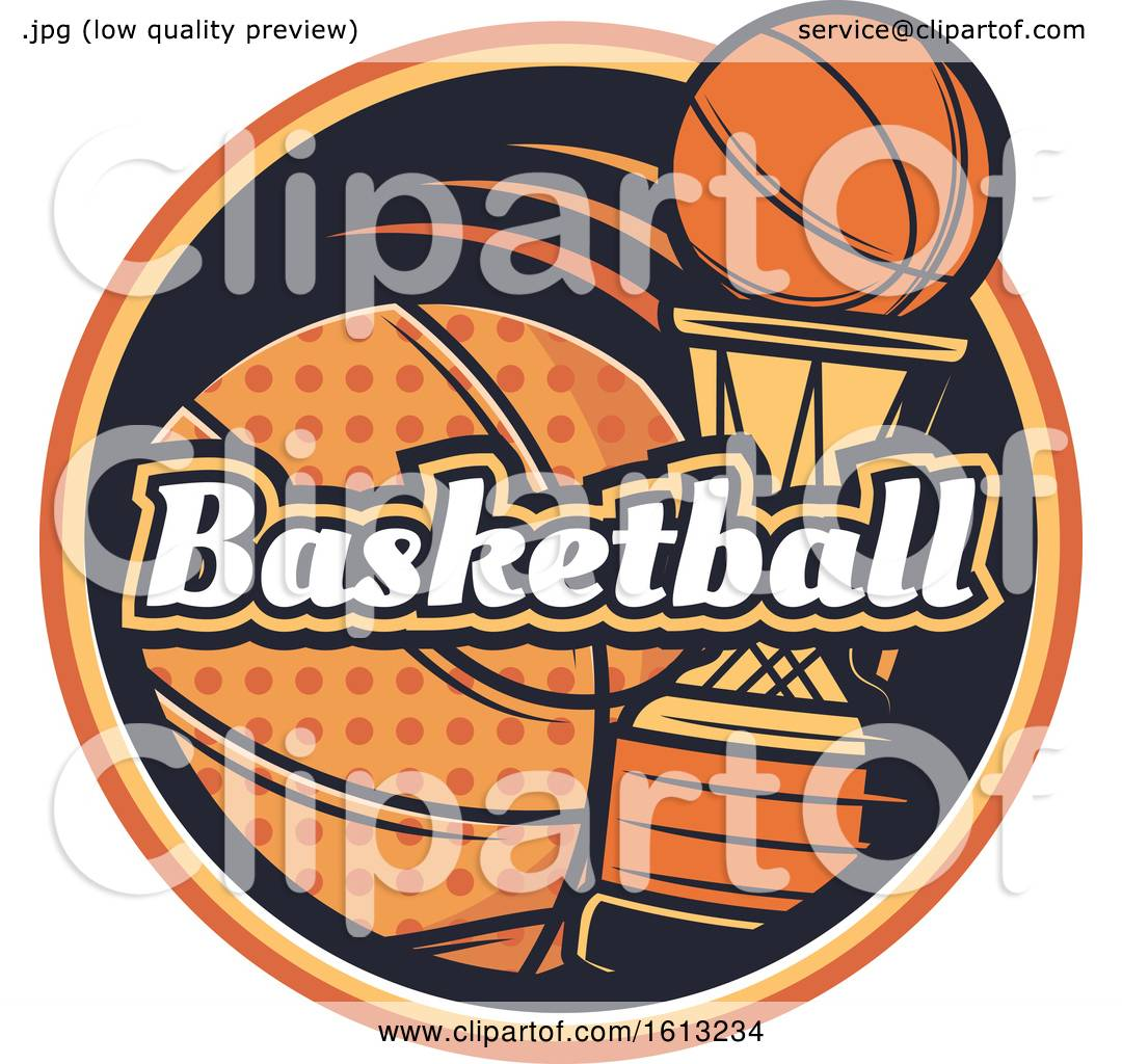 Clipart Of A Basketball Design Royalty Free Vector Illustration By