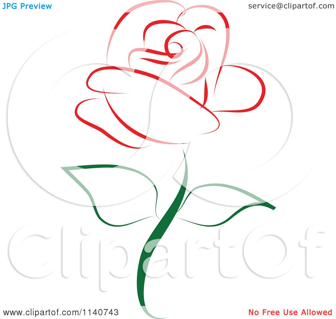 Rose Vector Graphic Red rose 1 - royalty free