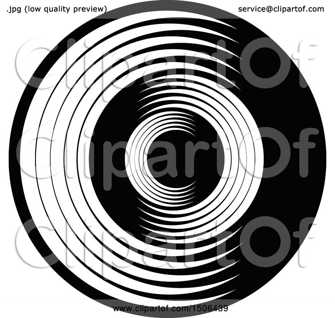Clipart Of A Black And White Abstract Letter C Design