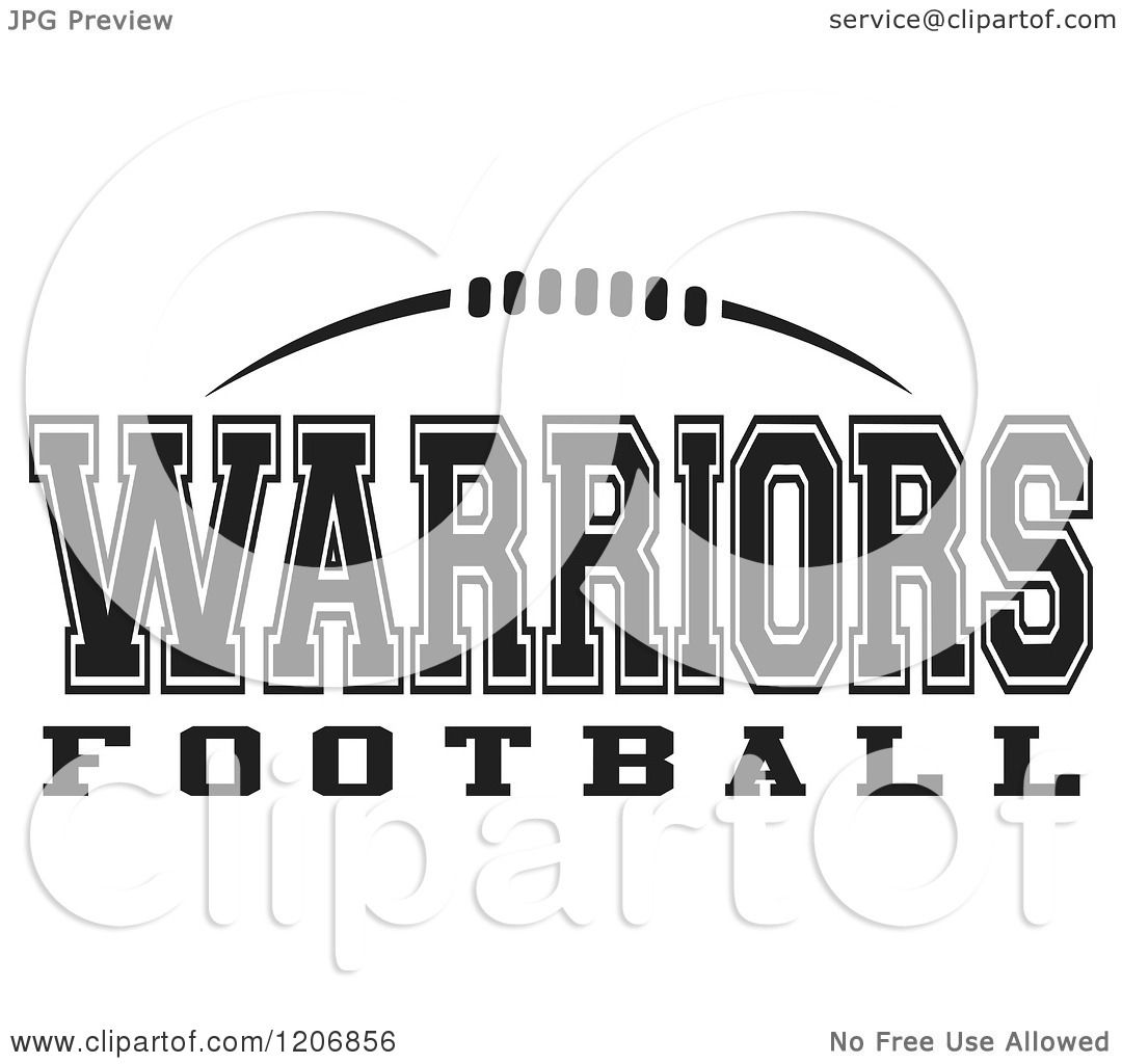 Clipart of a Black and White American Football and ...