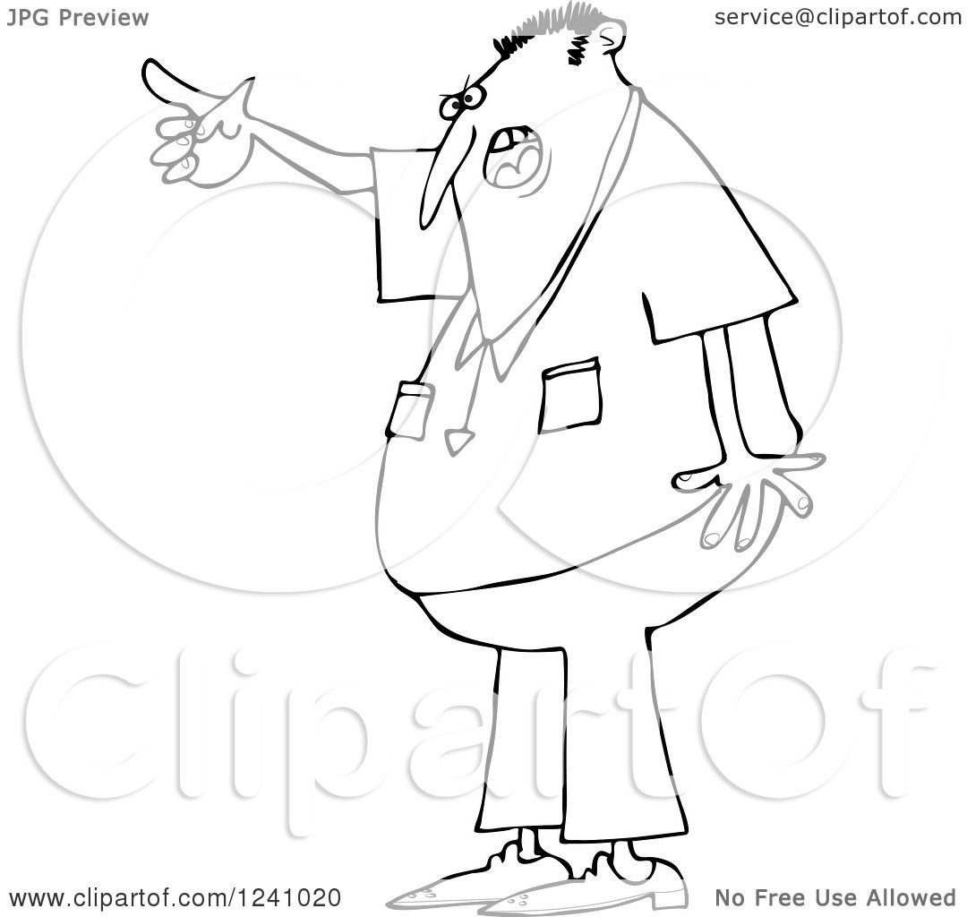 Angry Old Man Drawing Black and White Angry Man