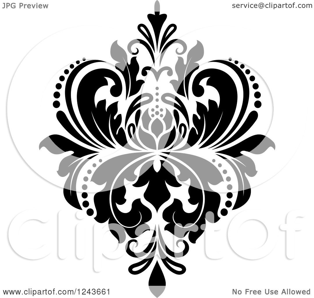 Damask Coloring Pages