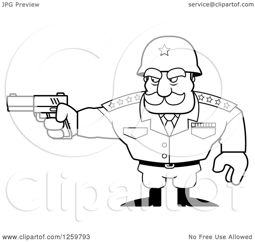This is a graphic of Breathtaking Man Holding Gun Drawing