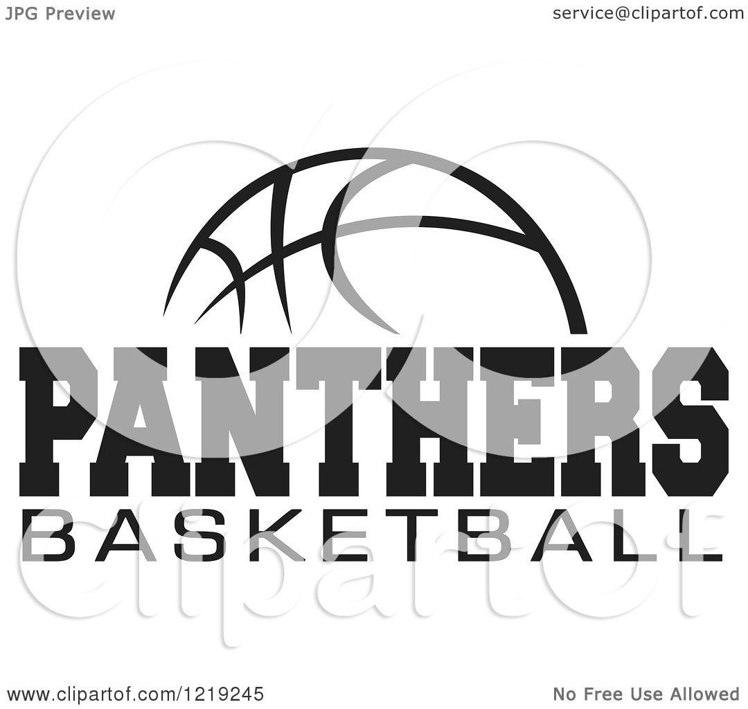 Panthers Basketball Logo With Panthers Basketball