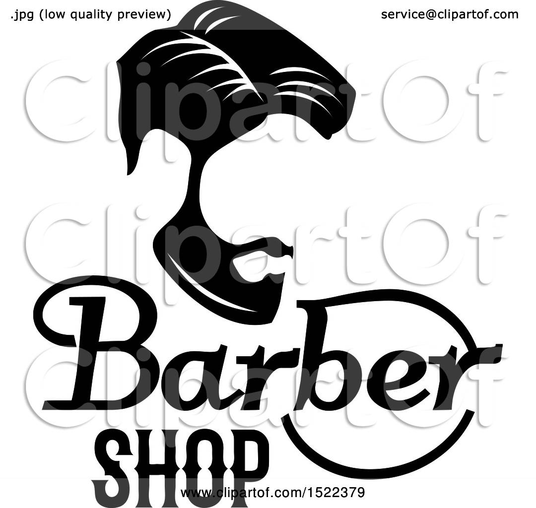 clipart of a black and white barber shop design royalty free rh clipartof com barber shop pole clipart barber shop clipart free