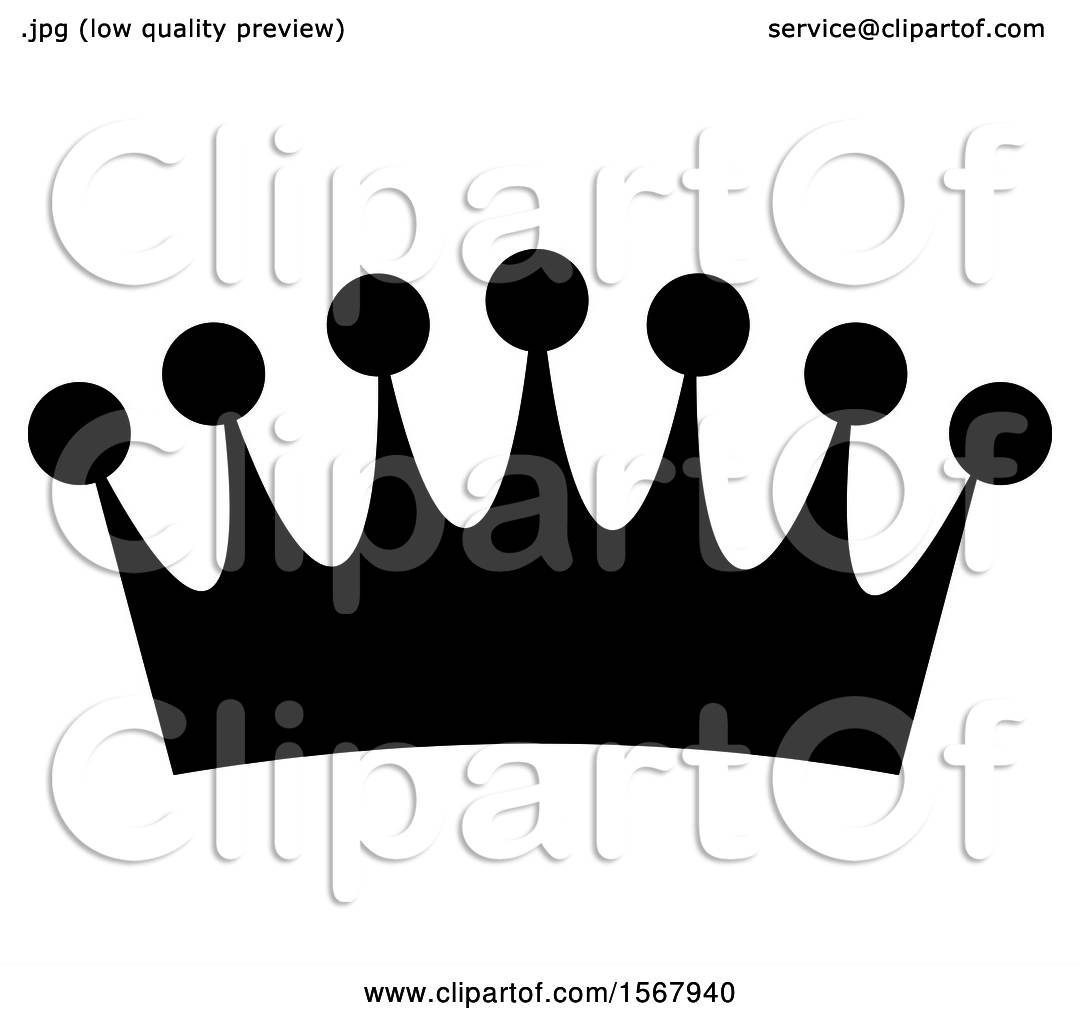 clipart of a black and white crown royalty free vector rh clipartof com free crown vector clipart free crown victorian roblox model