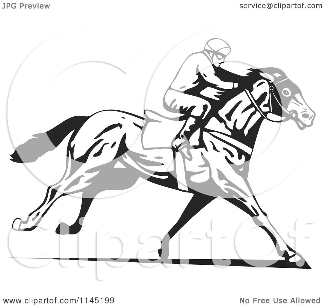 Racerace Horse Colouring Pages