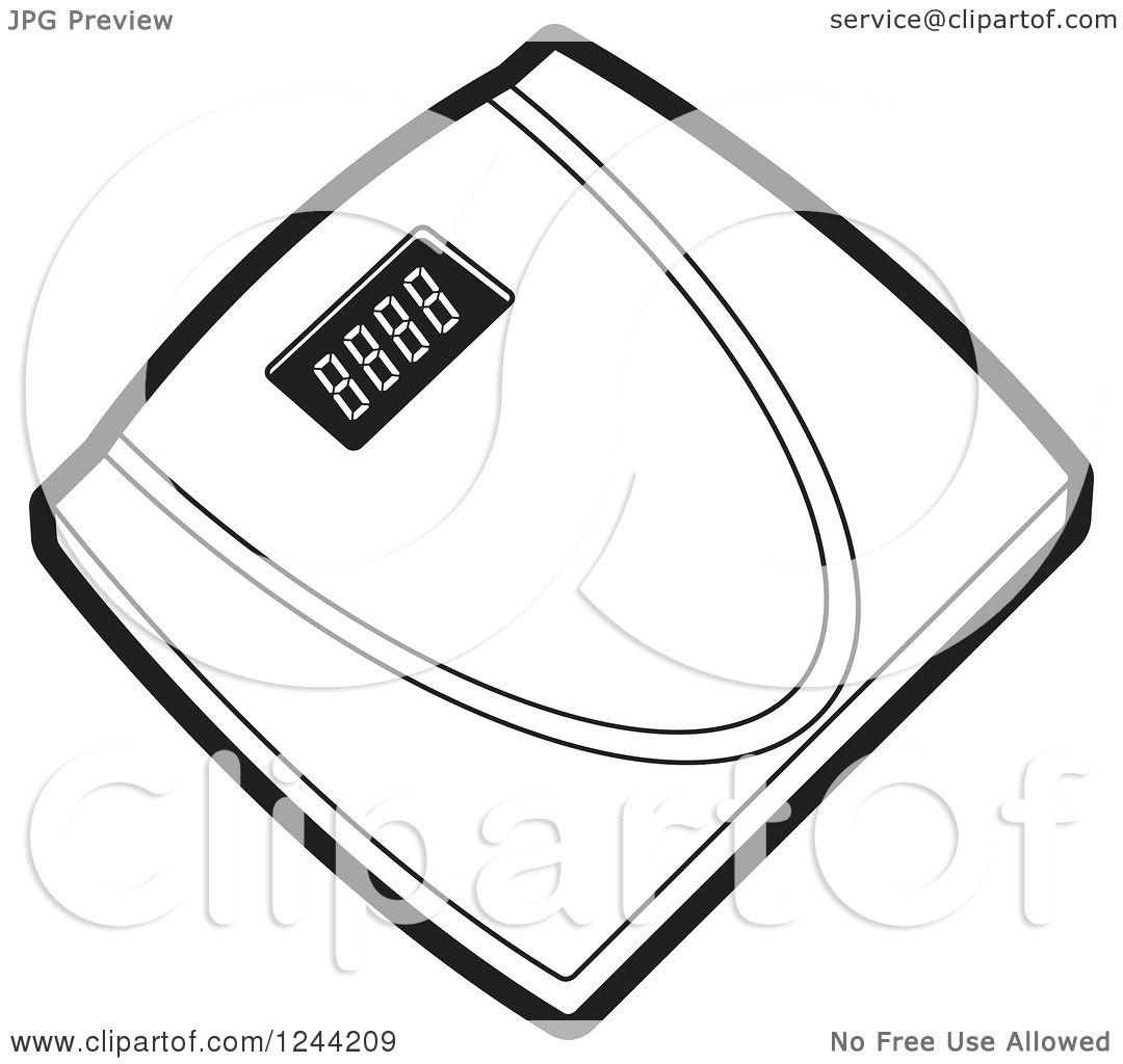 Black Bathroom Scales Similiar Pink Weight Scale Vector Keywords