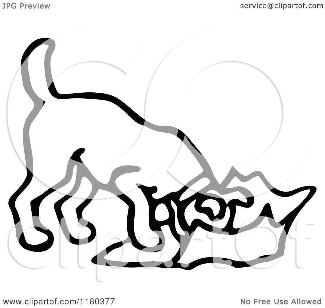 Dog Eating Clipart And White Dog Eating Trash
