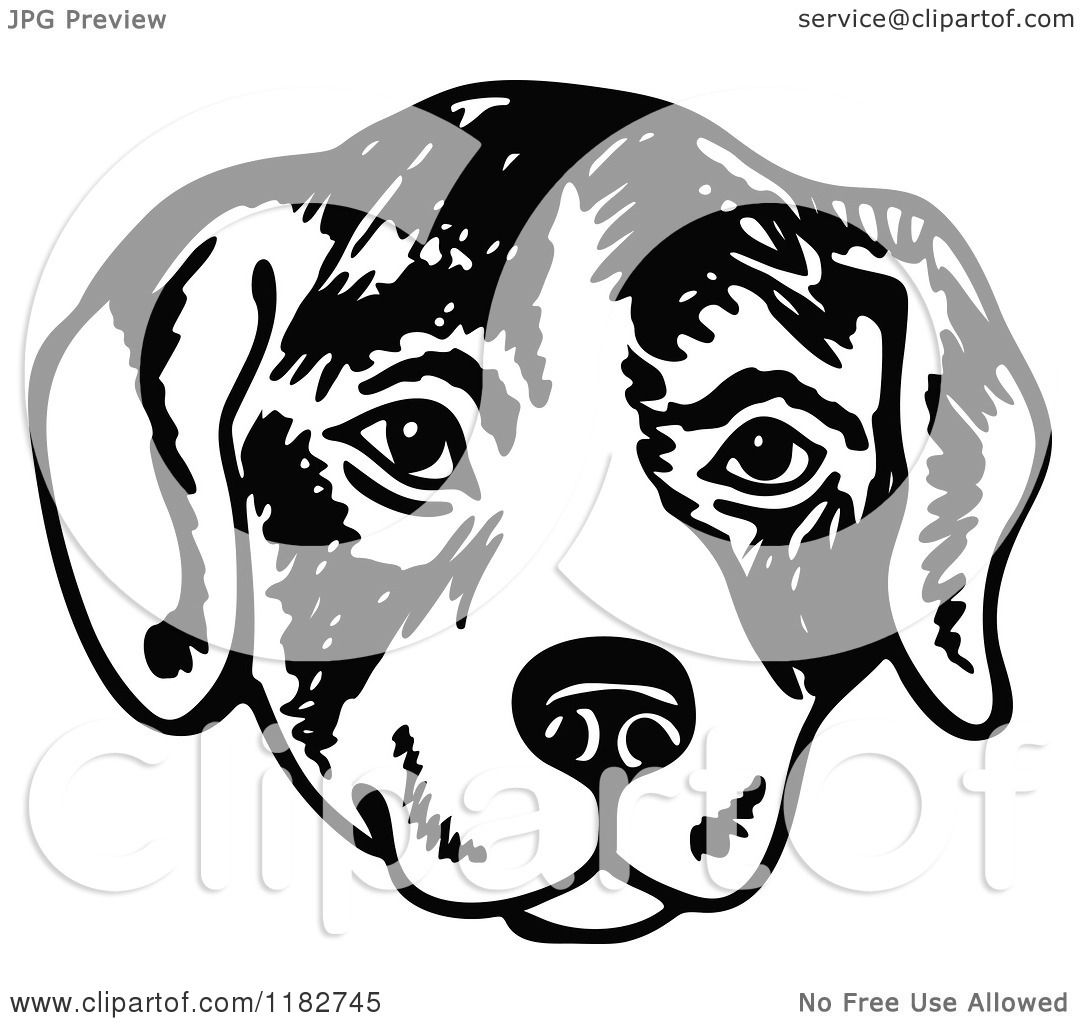 Dogs Black And White Clipart Clipart of a Black And White