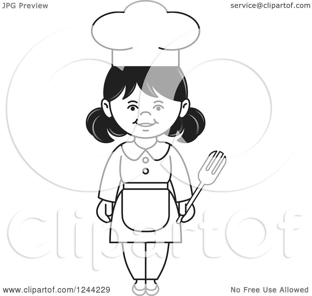 Black Female Chef Clipart