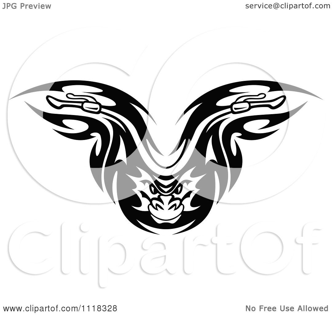 Motorcycle clip art with flames - Clipart Of A Black And White Flaming Demon Motorcycle Biker Handlebars 2 Royalty Free Vector Illustration By Vector Tradition Sm