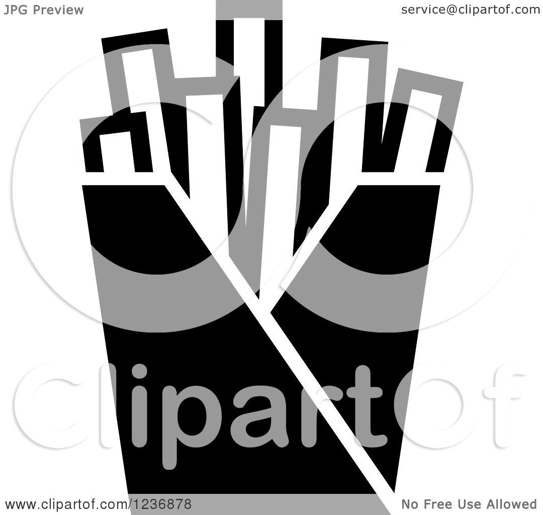 Clipart of a black and white french fries icon royalty free clipart of a black and white french fries icon royalty free vector illustration by vector tradition sm biocorpaavc Gallery