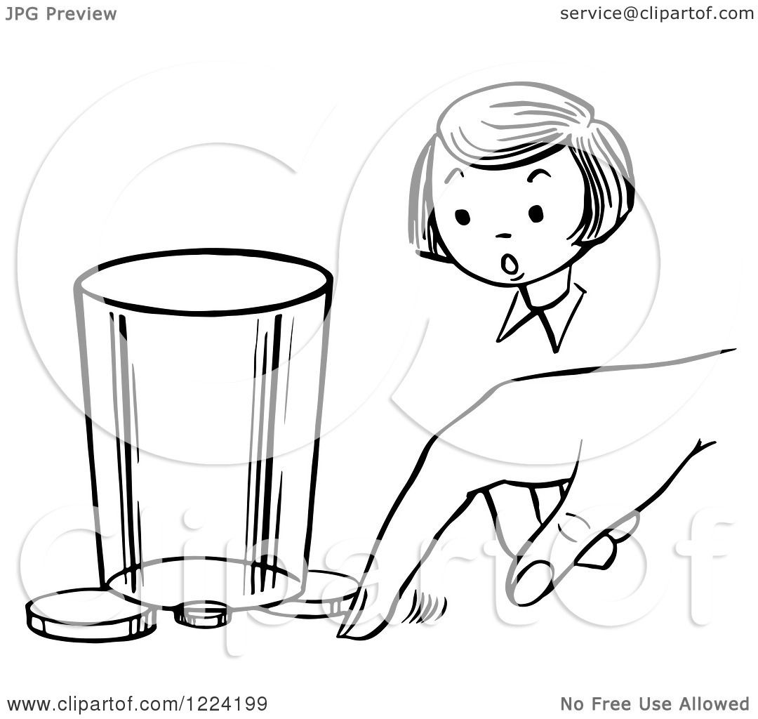 The magic coloring book trick - Clipart Of A Black And White Girl Watching A Boy Perform A Moving Coin Magic Trick Royalty Free Vector Illustration By Picsburg