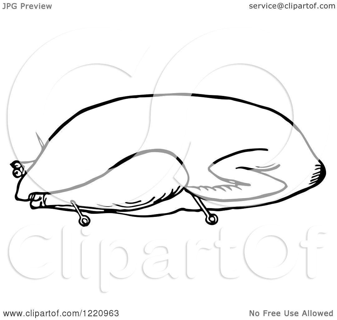 Goose clip art black and white
