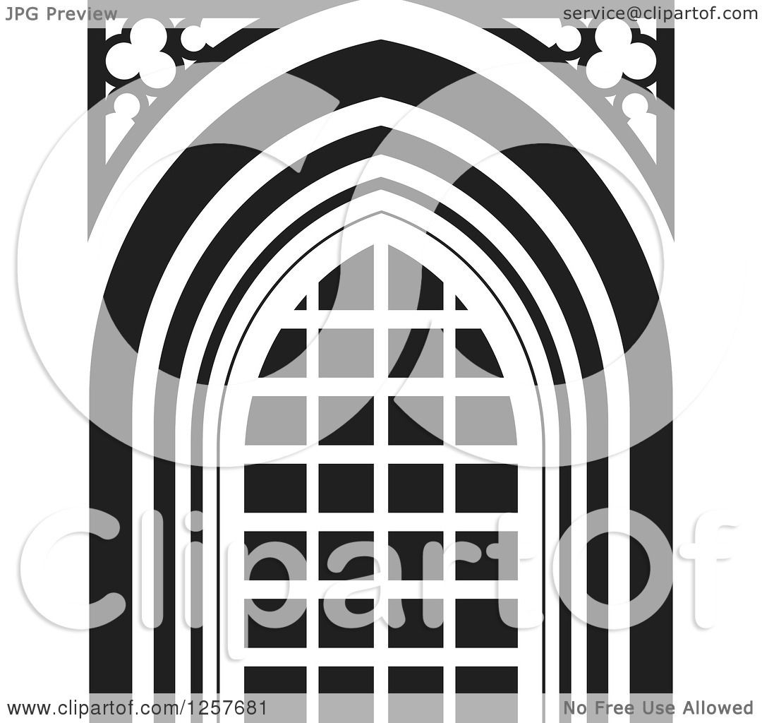 Black And White Gothic Windows