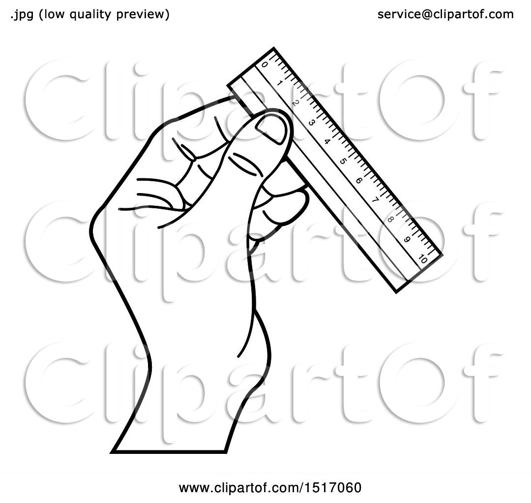 clipart of a black and white hand holding a ruler royalty free 4 X 4 Post clipart of a black and white hand holding a ruler royalty free vector illustration by lal perera