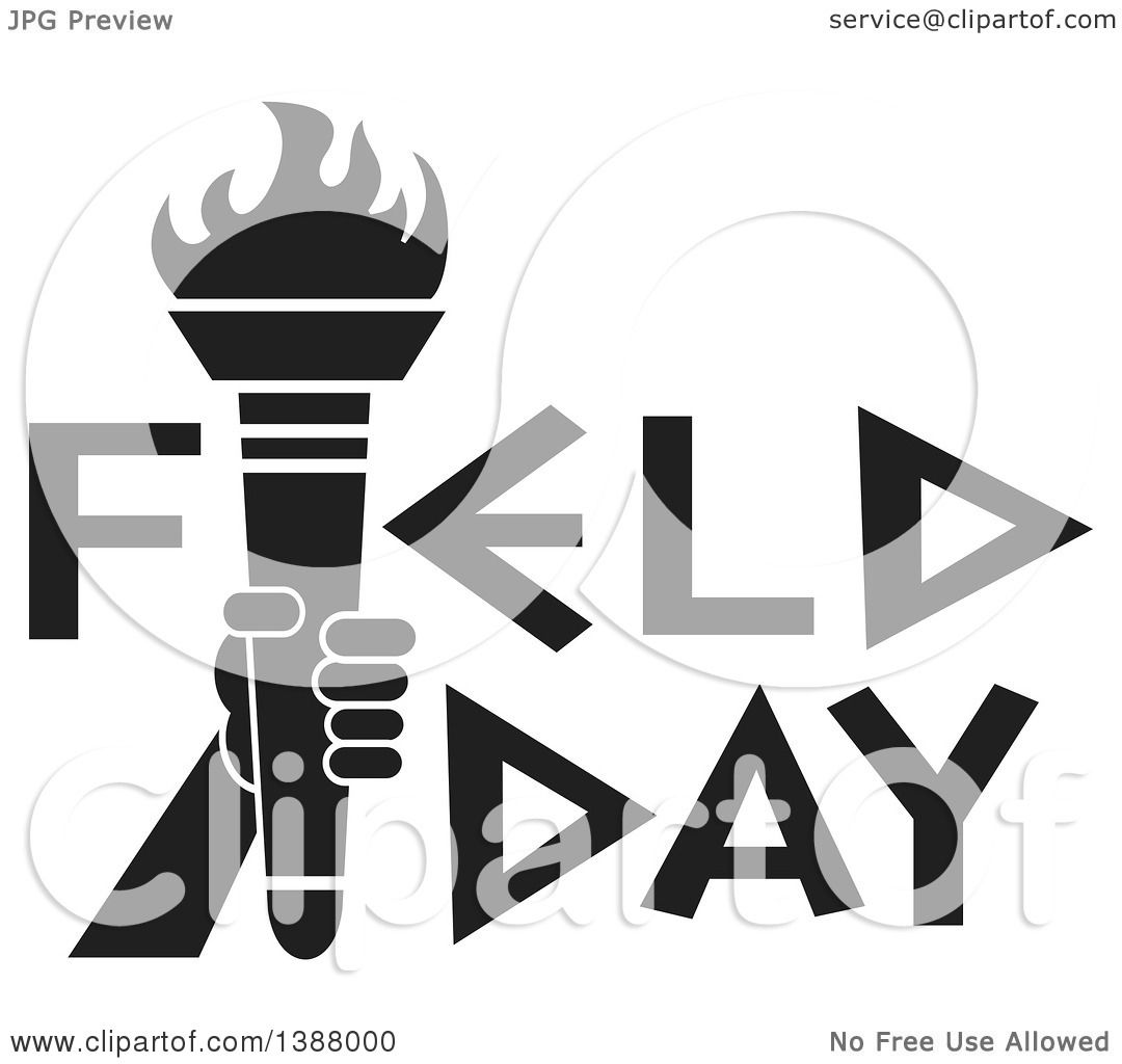 clipart of a black and white hand holding an olympic torch in clipart of a black and white hand holding an olympic torch in field day text royalty vector illustration by johnny sajem