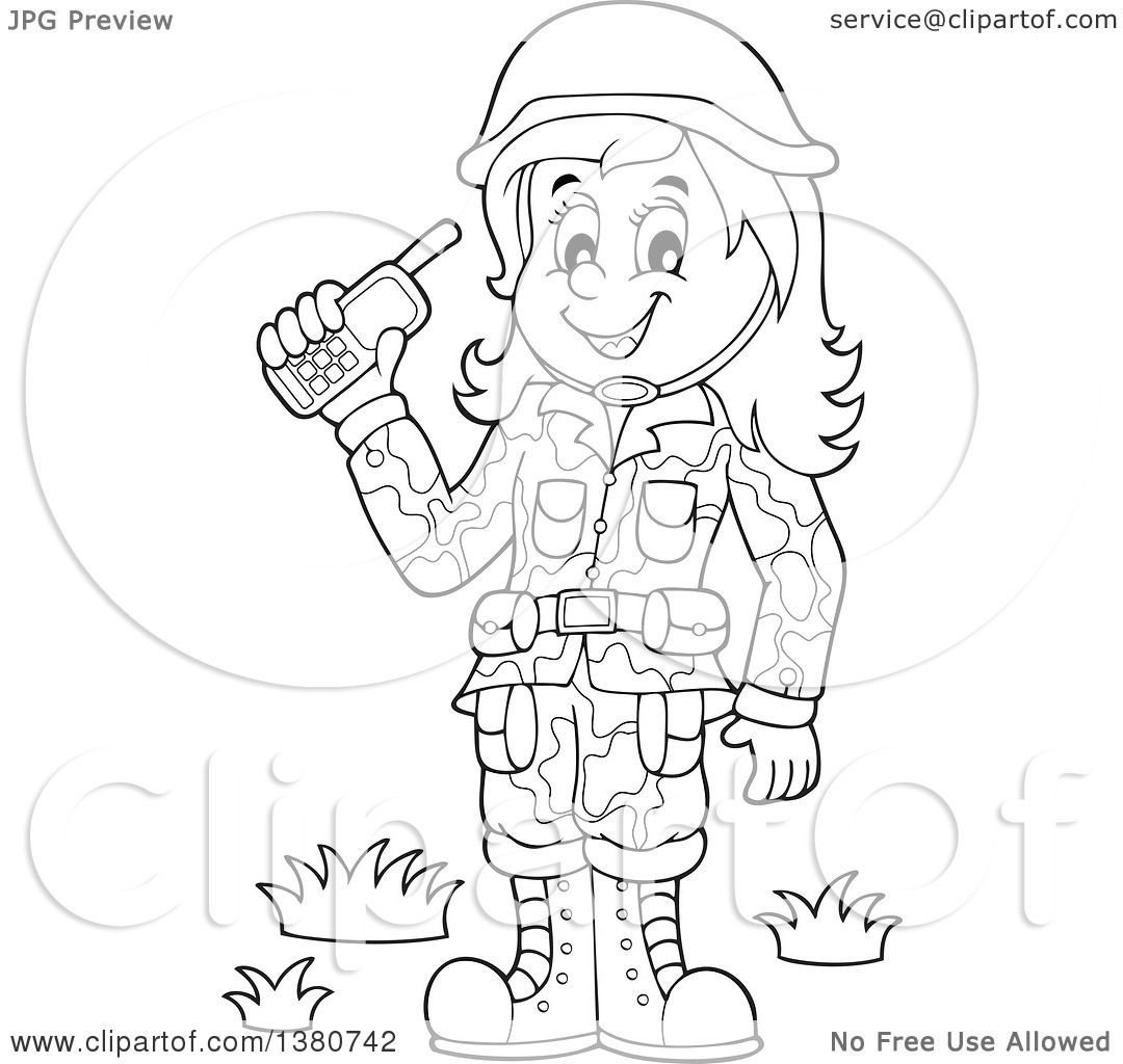 walkie talkie coloring pages