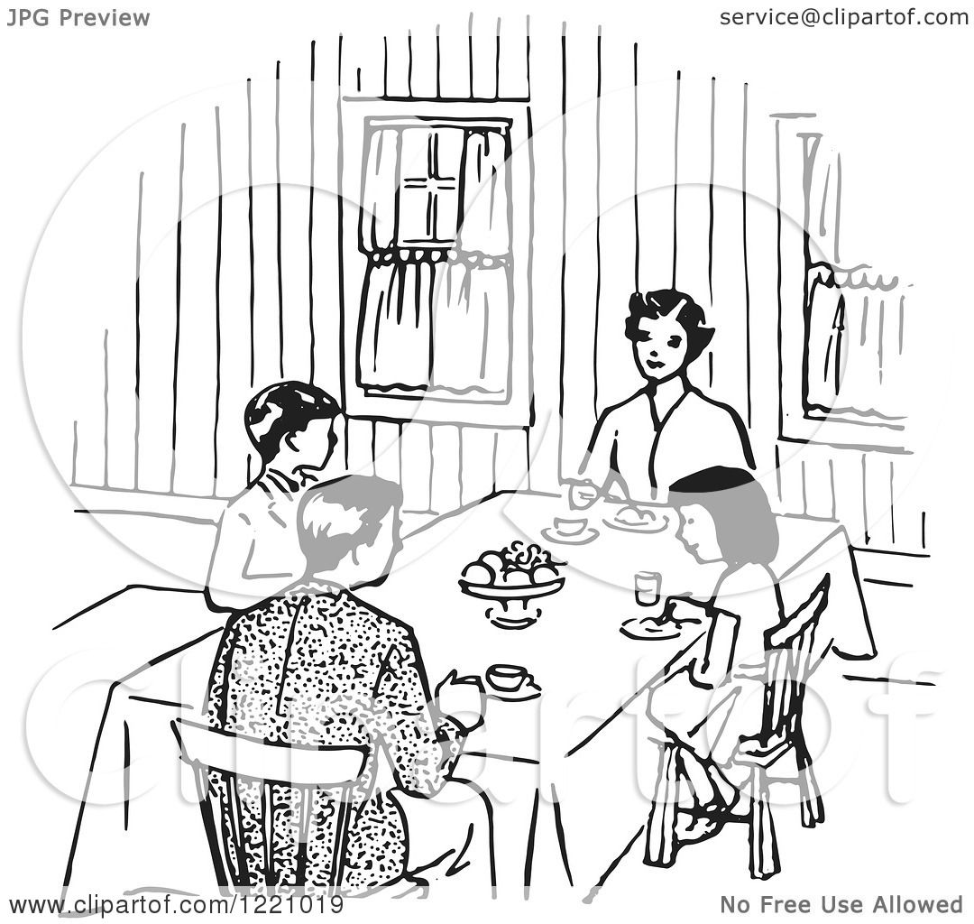dining room clipart black and white - photo #35