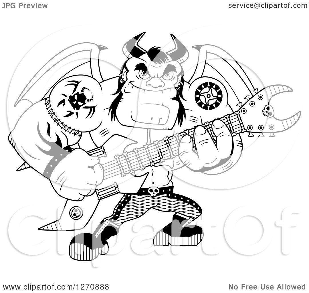heavy metal band coloring pages - photo#12