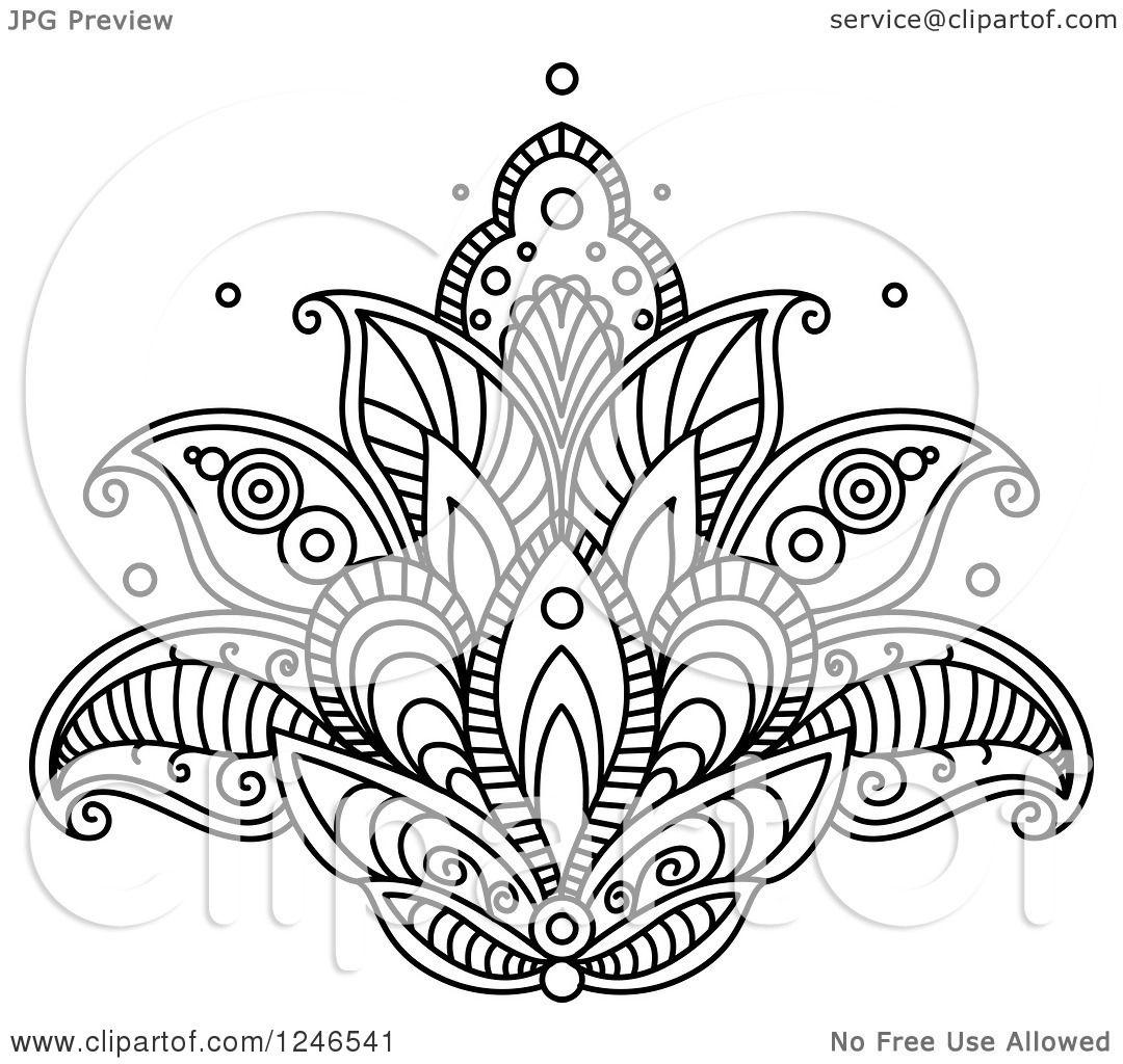 Henna Lotus Flower Tattoo Comousar