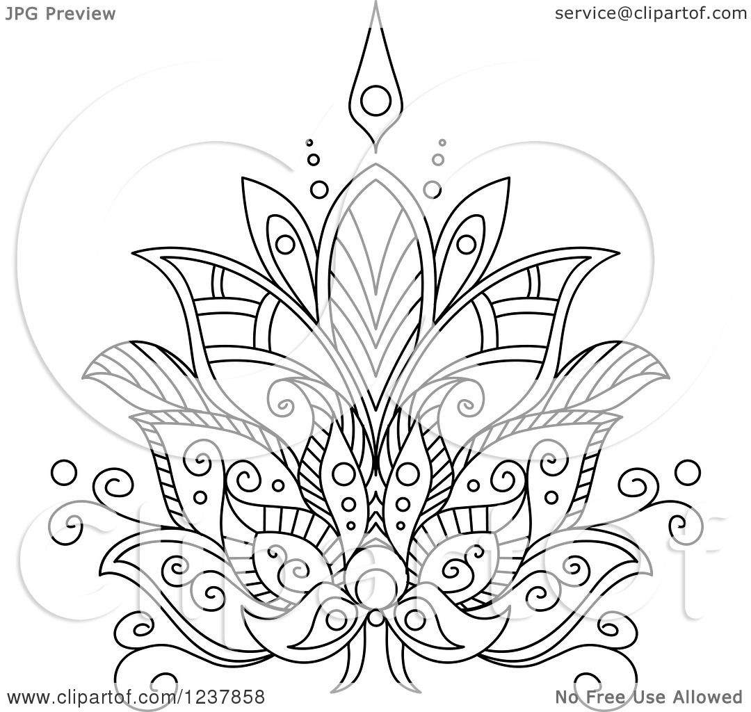Lotus Flower Henna White henna lotus flower 7