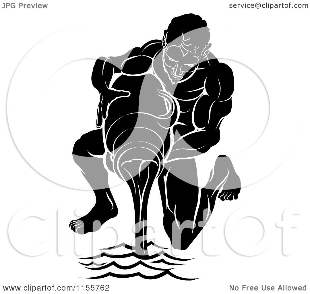 clipart of a black and white horoscope zodiac astrology