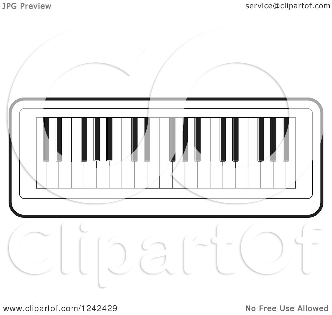 Organ Piano Drawing White Keyboard Piano Organ