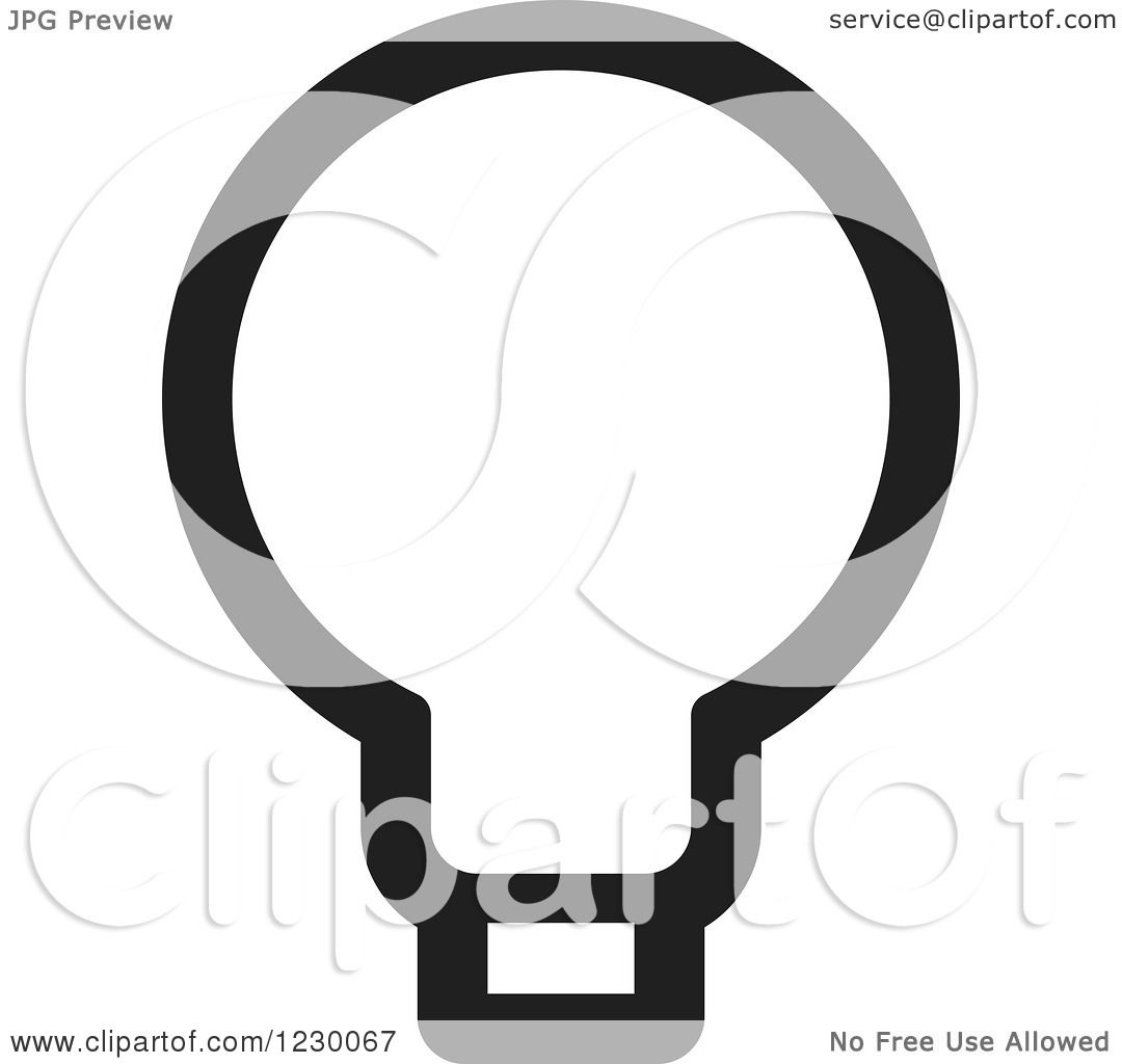 Black Ceiling Lamp Royalty Free Vector Image: Clipart Of A Black And White Light Bulb Icon