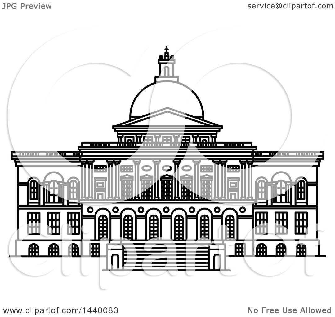 Line Drawing Vs Mass Drawing : Clipart of a black and white line drawing the