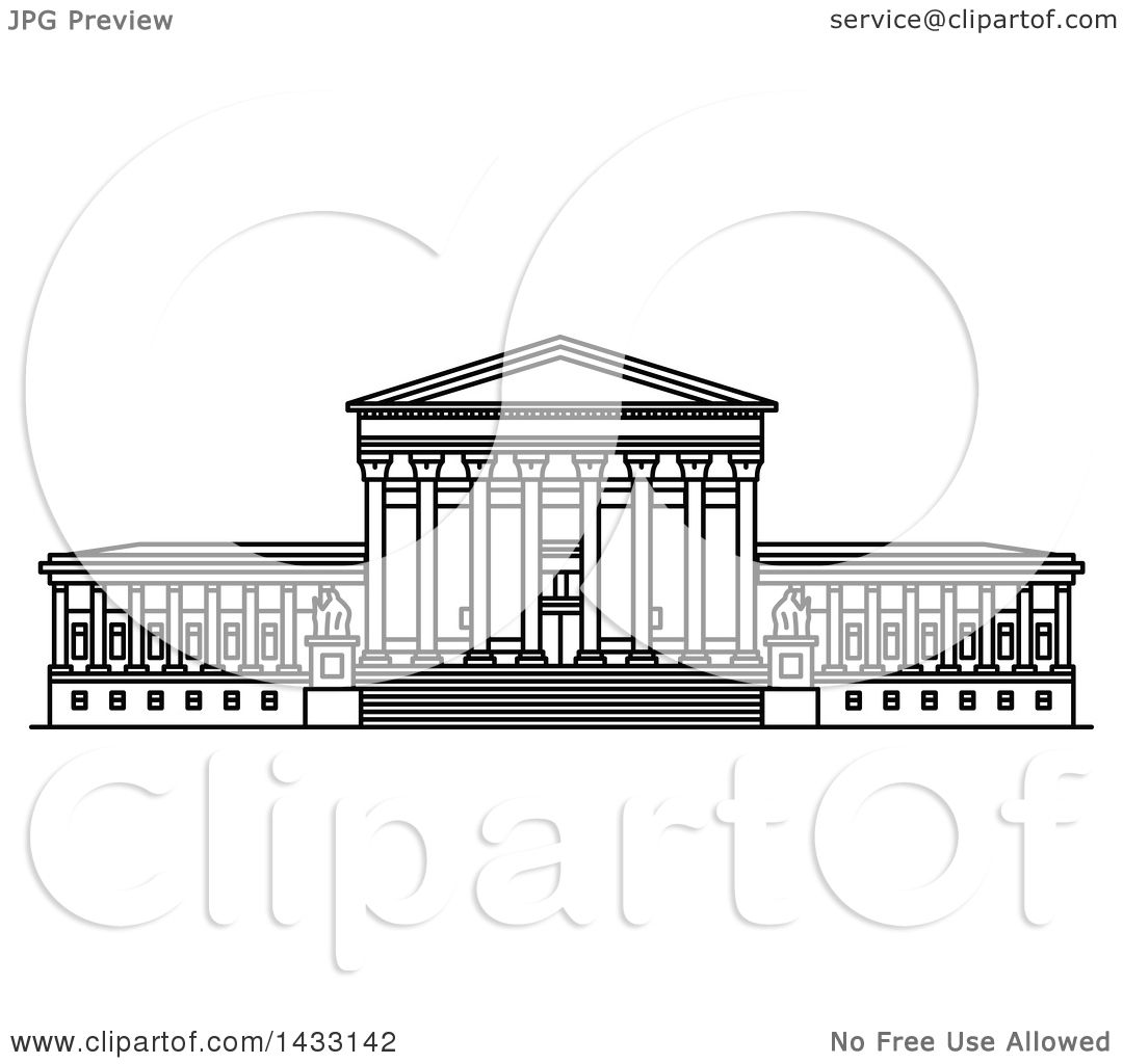 simple supreme court building drawing