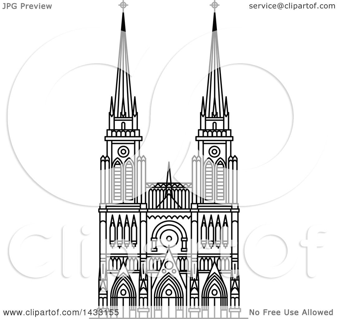 Clipart of a Black and White Line Drawing Styled Argentine ...