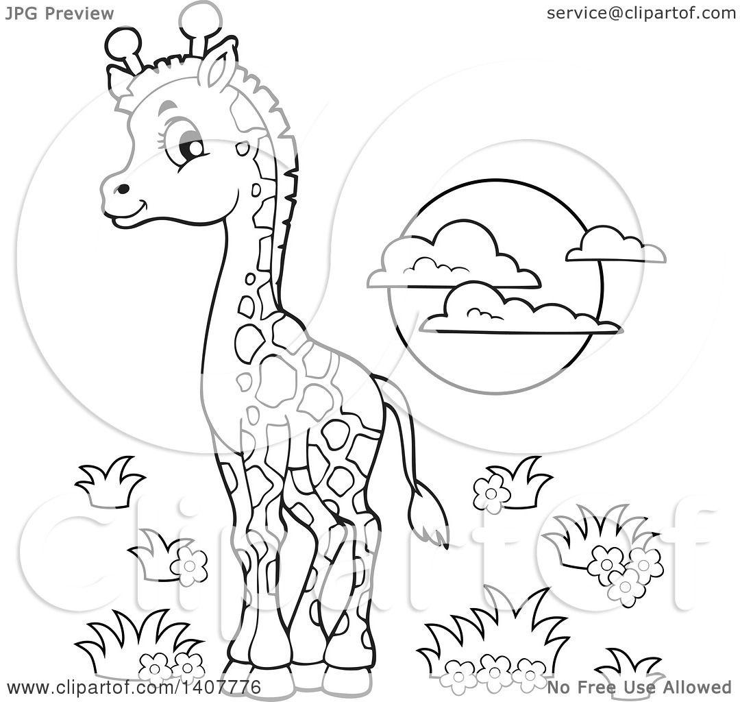 Großartig Malvorlagen Giraffe Mit Baby Bilder - Malvorlagen Von ...