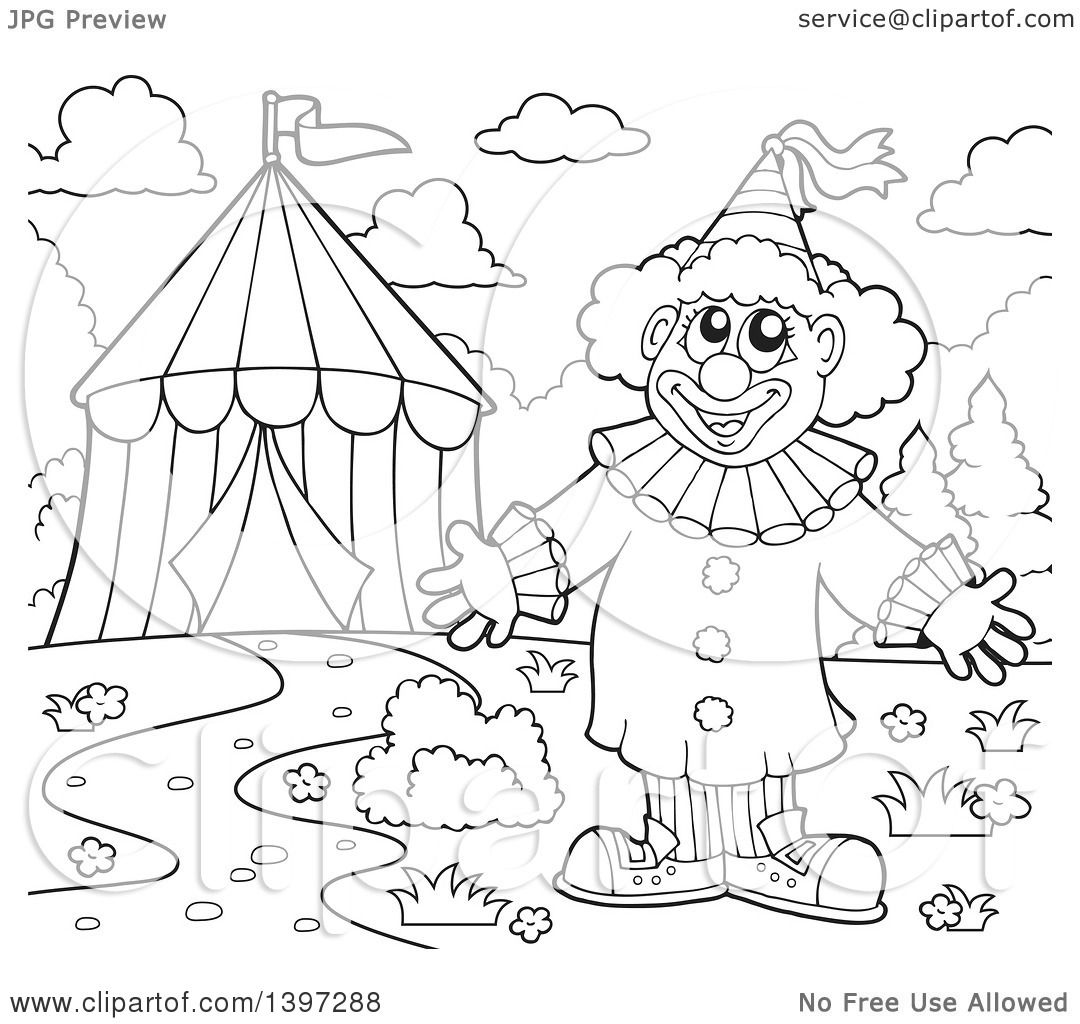 big top tent coloring pages - photo#28